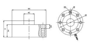 Through-Hole Compression Load Cell