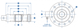 compression load cell for batching scale