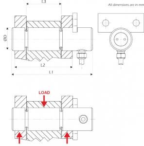load measuring pin