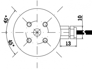 low profile disk type loadcell