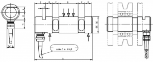 metal load cell pins