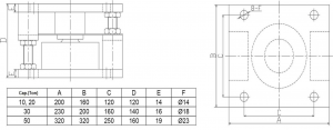 pancake compression load cell 30t
