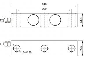 shear beam load cell 10 ton 2t 2ton 1ton 10klb