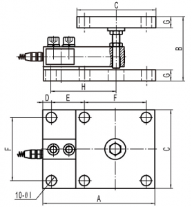 stainless steel load cell feet