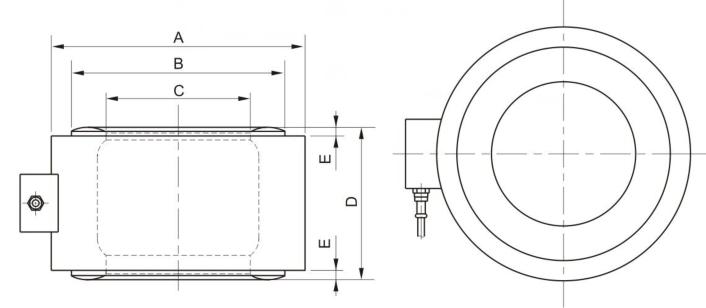 Cylindrical Bridge Column Type Load Cells sensor