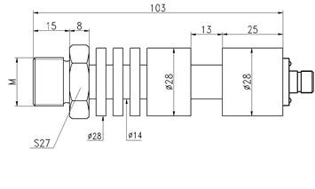 Pressure Transducer Sensor for Oil Fuel
