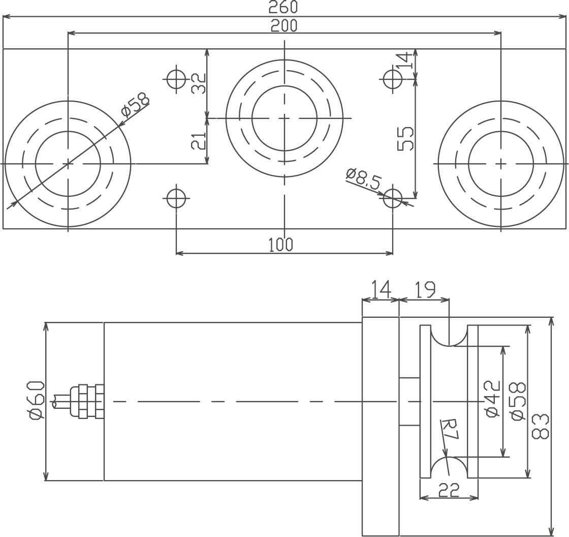Three pulley tension sensor