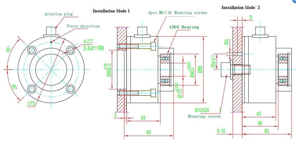 Yarn & Fiber Tension Sensor