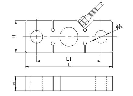 high overloading-resistibility load cell