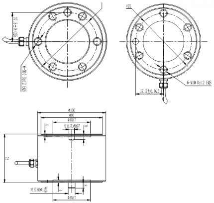 multiaxial force load cell