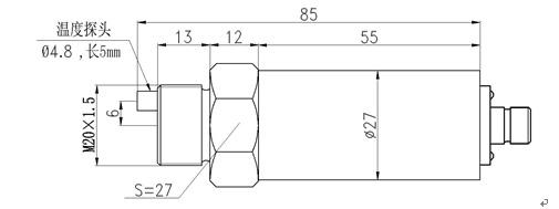 oil air water ceramic pressure transducer