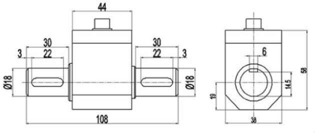 shaft torque load cell
